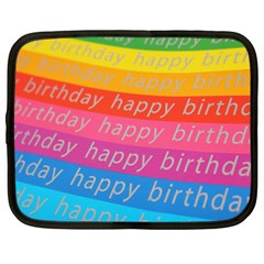 Colorful Happy Birthday Wallpaper Netbook Case (large) by Simbadda