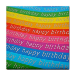 Colorful Happy Birthday Wallpaper Face Towel