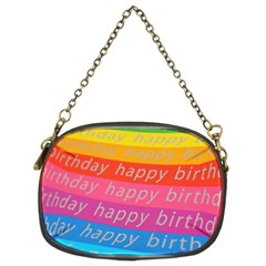 Colorful Happy Birthday Wallpaper Chain Purses (Two Sides)