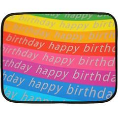 Colorful Happy Birthday Wallpaper Double Sided Fleece Blanket (Mini)