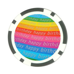Colorful Happy Birthday Wallpaper Poker Chip Card Guard (10 pack)