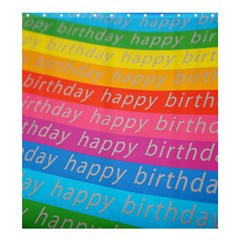 Colorful Happy Birthday Wallpaper Shower Curtain 66  x 72  (Large)