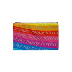 Colorful Happy Birthday Wallpaper Cosmetic Bag (Small)