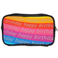 Colorful Happy Birthday Wallpaper Toiletries Bags 2-Side