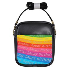 Colorful Happy Birthday Wallpaper Girls Sling Bags