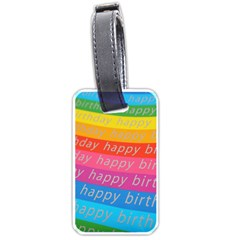 Colorful Happy Birthday Wallpaper Luggage Tags (One Side)