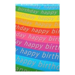 Colorful Happy Birthday Wallpaper Shower Curtain 48  x 72  (Small)