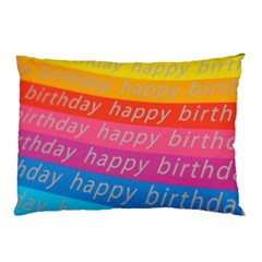 Colorful Happy Birthday Wallpaper Pillow Case (Two Sides)