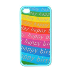 Colorful Happy Birthday Wallpaper Apple iPhone 4 Case (Color)