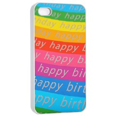 Colorful Happy Birthday Wallpaper Apple iPhone 4/4s Seamless Case (White)