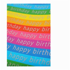 Colorful Happy Birthday Wallpaper Small Garden Flag (Two Sides)