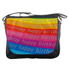 Colorful Happy Birthday Wallpaper Messenger Bags