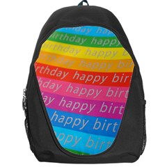 Colorful Happy Birthday Wallpaper Backpack Bag