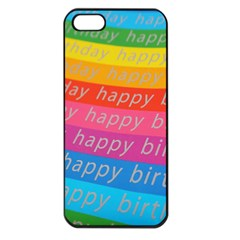 Colorful Happy Birthday Wallpaper Apple iPhone 5 Seamless Case (Black)