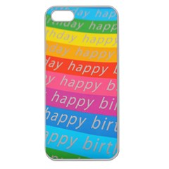 Colorful Happy Birthday Wallpaper Apple Seamless Iphone 5 Case (clear) by Simbadda