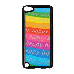 Colorful Happy Birthday Wallpaper Apple iPod Touch 5 Case (Black)