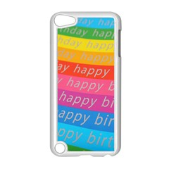 Colorful Happy Birthday Wallpaper Apple Ipod Touch 5 Case (white) by Simbadda