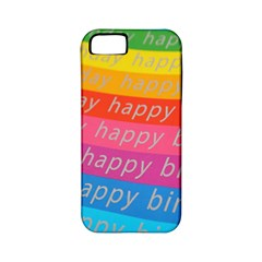 Colorful Happy Birthday Wallpaper Apple iPhone 5 Classic Hardshell Case (PC+Silicone)