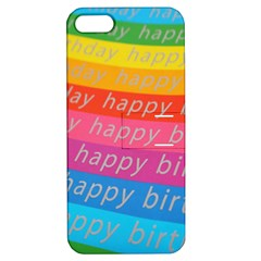 Colorful Happy Birthday Wallpaper Apple Iphone 5 Hardshell Case With Stand by Simbadda