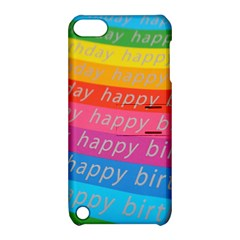 Colorful Happy Birthday Wallpaper Apple iPod Touch 5 Hardshell Case with Stand
