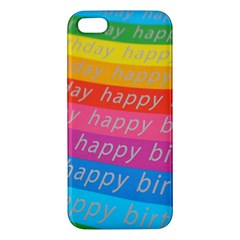 Colorful Happy Birthday Wallpaper Apple iPhone 5 Premium Hardshell Case