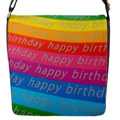 Colorful Happy Birthday Wallpaper Flap Messenger Bag (S)