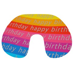 Colorful Happy Birthday Wallpaper Travel Neck Pillows
