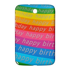 Colorful Happy Birthday Wallpaper Samsung Galaxy Note 8.0 N5100 Hardshell Case