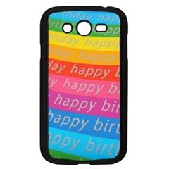 Colorful Happy Birthday Wallpaper Samsung Galaxy Grand DUOS I9082 Case (Black)