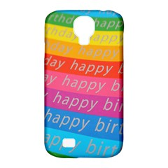 Colorful Happy Birthday Wallpaper Samsung Galaxy S4 Classic Hardshell Case (PC+Silicone)