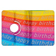 Colorful Happy Birthday Wallpaper Kindle Fire Hdx Flip 360 Case by Simbadda