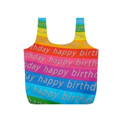 Colorful Happy Birthday Wallpaper Full Print Recycle Bags (S)