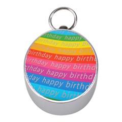 Colorful Happy Birthday Wallpaper Mini Silver Compasses