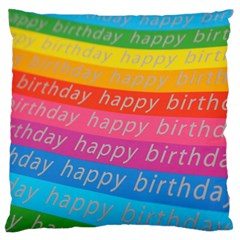 Colorful Happy Birthday Wallpaper Standard Flano Cushion Case (two Sides) by Simbadda