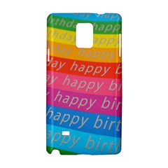 Colorful Happy Birthday Wallpaper Samsung Galaxy Note 4 Hardshell Case by Simbadda
