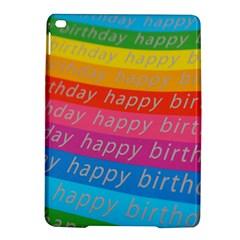 Colorful Happy Birthday Wallpaper iPad Air 2 Hardshell Cases