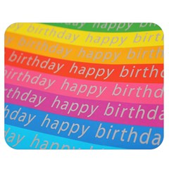 Colorful Happy Birthday Wallpaper Double Sided Flano Blanket (Medium)