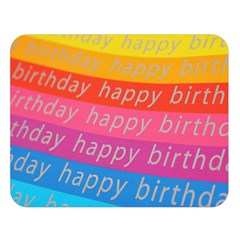 Colorful Happy Birthday Wallpaper Double Sided Flano Blanket (Large)