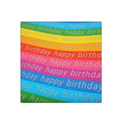 Colorful Happy Birthday Wallpaper Satin Bandana Scarf