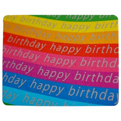 Colorful Happy Birthday Wallpaper Jigsaw Puzzle Photo Stand (Rectangular)