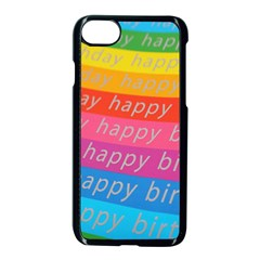 Colorful Happy Birthday Wallpaper Apple iPhone 7 Seamless Case (Black)