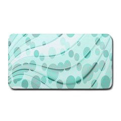 Abstract Background Teal Bubbles Abstract Background Of Waves Curves And Bubbles In Teal Green Medium Bar Mats by Simbadda