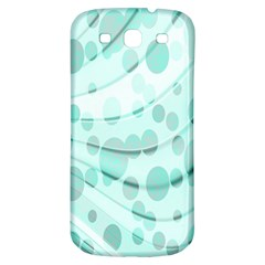 Abstract Background Teal Bubbles Abstract Background Of Waves Curves And Bubbles In Teal Green Samsung Galaxy S3 S Iii Classic Hardshell Back Case by Simbadda
