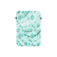 Abstract Background Teal Bubbles Abstract Background Of Waves Curves And Bubbles In Teal Green Apple Ipad Mini Protective Soft Cases by Simbadda