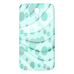 Abstract Background Teal Bubbles Abstract Background Of Waves Curves And Bubbles In Teal Green Samsung Galaxy Mega I9200 Hardshell Back Case by Simbadda