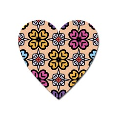 Abstract Seamless Background Pattern Heart Magnet by Simbadda