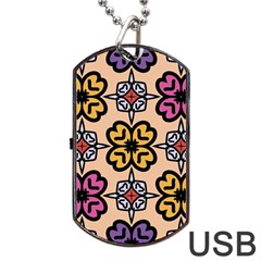 Abstract Seamless Background Pattern Dog Tag Usb Flash (one Side) by Simbadda