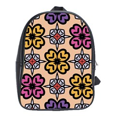Abstract Seamless Background Pattern School Bags (xl)