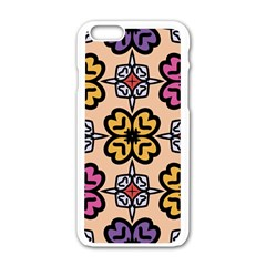 Abstract Seamless Background Pattern Apple Iphone 6/6s White Enamel Case by Simbadda