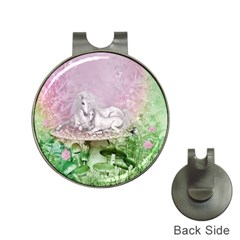 Wonderful Unicorn With Foal On A Mushroom Hat Clips With Golf Markers by FantasyWorld7